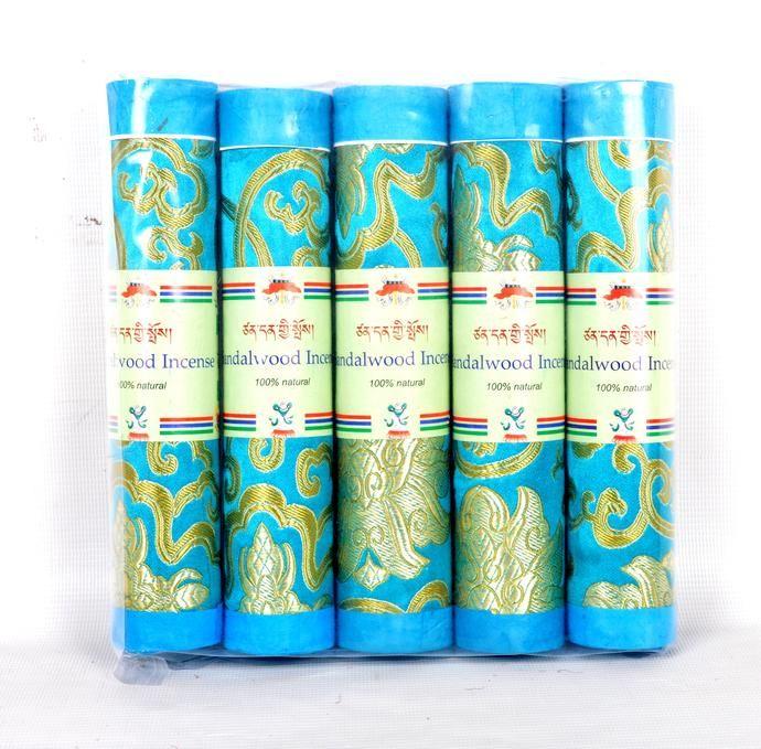 Bhutanese Aromatic Incense Tibetan Meditation Joss Incense Sticks- Pack of 5 Sandalwood Incense (FH-INS-1032SAND)