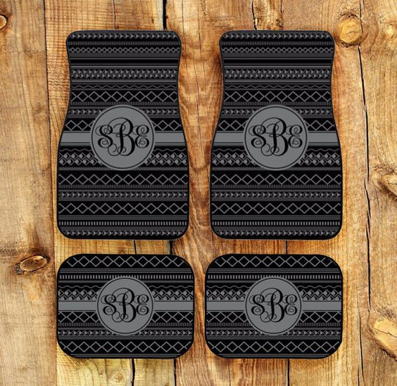 Car Mats Monogrammed Gifts Personalized Custom Floor Mats Cute Car Accessories For Women Car Mat Monogram Gift Ideas Sweet 16 Car Decor