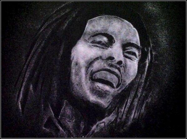 Портрет Боба Марли из мелкой морской соли. Творчество Башира Султани (Bashir Sultani)