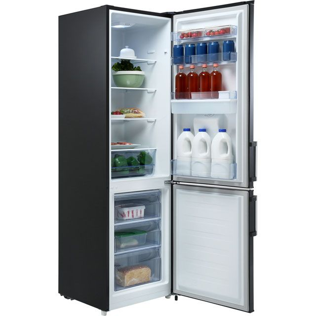 Fridgemaster Mc55264ds 70 30 Fridge Freezer Silver A Rated In