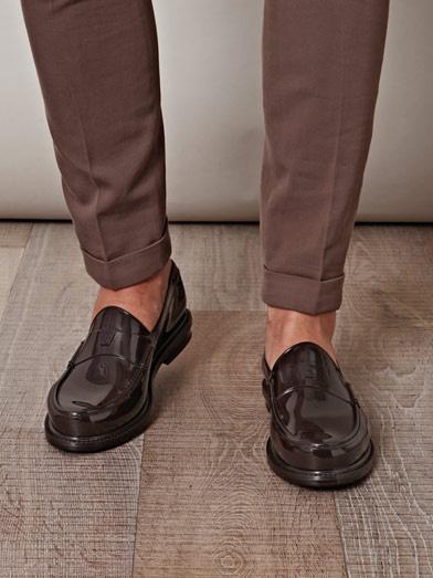 YVES SAINT LAURENT - Rubber loafer shoes