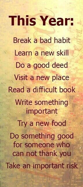 do something good & new.