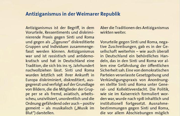 """Ein Beitrag im Booklet zu EDE UND UNKU informiert über """"Antiziganismus in der Weimarer Republik""""!"""