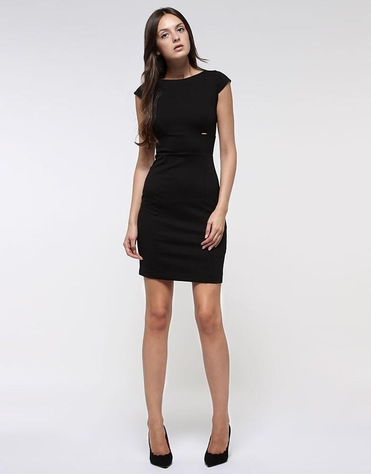 Vestido negro liso - Vestidos - Ropa - Mujer