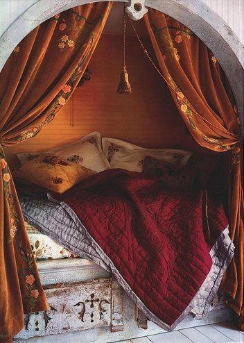 Уютная кровать в нише - альков ( ФОТО ) - IQInterior