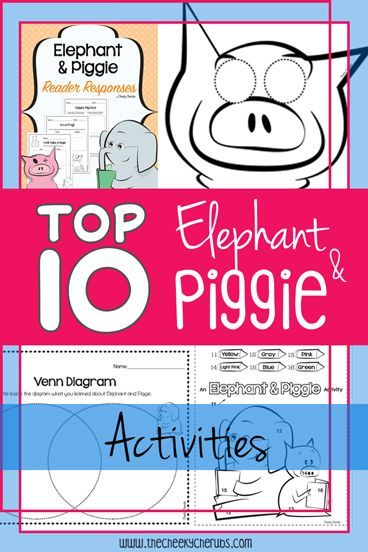 "Mo Willems is one of my favorite author studies. I really enjoy using Willems because it brings a lot of fun to our classroom! His books are entertaining and the kids always have a great time. These highly engaging ""Elephant & Piggie"" themed activities are sure to be a hit with your young learners. See the list of suggestions below. Hope you enjoy!"