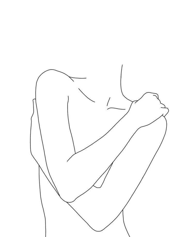 Nude women line drawing – available on etsy – link in bio #fineart #instaart #li… – Hannah