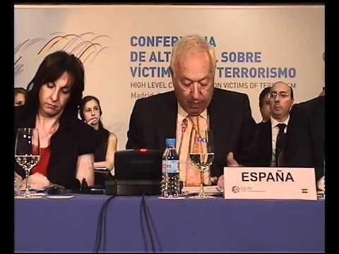 El ministro de Asuntos Exteriores de España, Jose Manuel García-Margallo, habla en la primera Conferencia de Alto Nivel sobre Víctimas del Terrorismo.