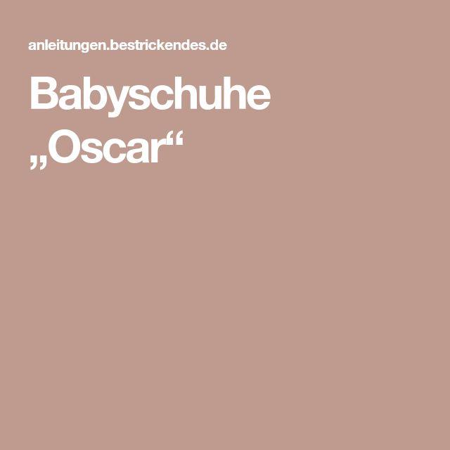 "Babyschuhe ""Oscar"""