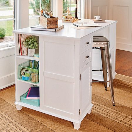 17 best images about organizing and storage ideas on for Craft desk with storage