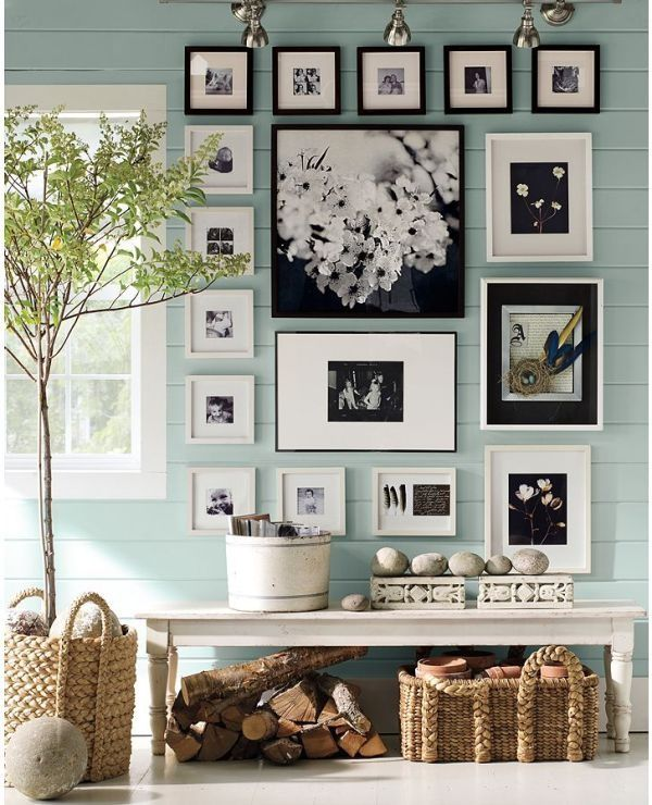 Nicely done!: Ideas, Interior, Wall Color, Photo Wall, Living Room, Gallery Wall
