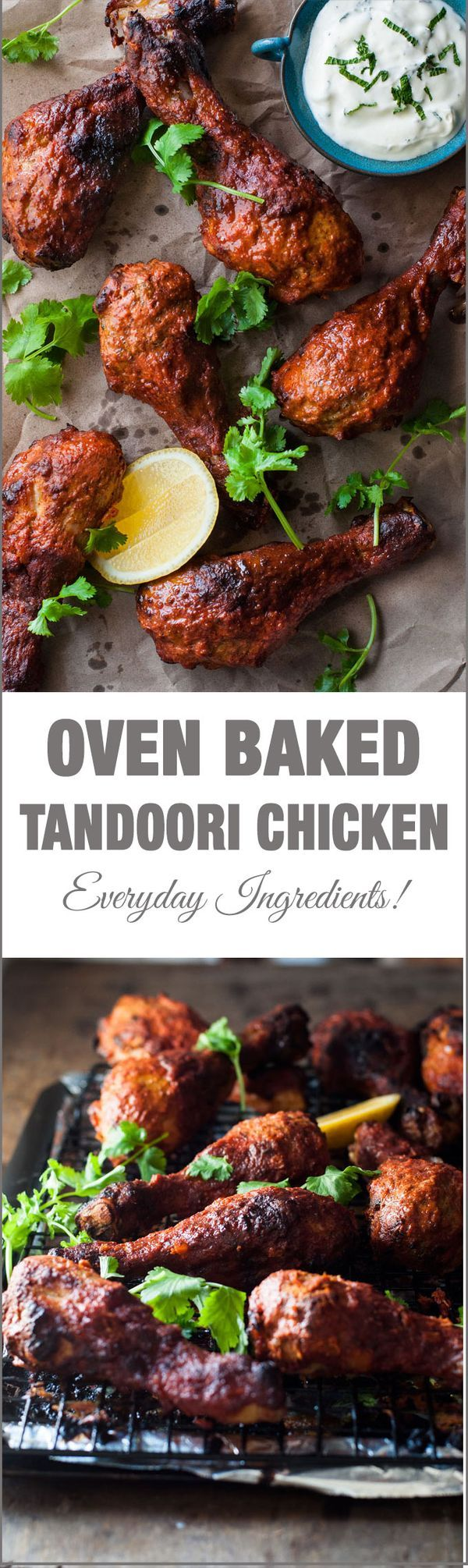 Oven Baked Tandoori Chicken - made from scratch with everyday ingredients, the flavour of this is authentic!