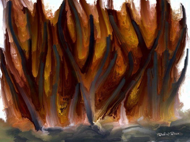 Haunted Forest  Floresta Assombrada  -  Digital Painting  Pintura Digital  -  Elizabeth Barros