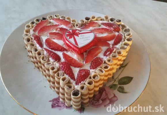 Jarná jahodovo- kiwová nepečená torta