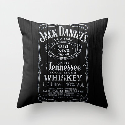 Jack Daniels Throw Pillow by Nicklas Gustafsson | Society6 $20.00