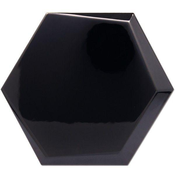 Kolekcja Hexagono Cuna - płytki ścienne Cuna Negro Brillo 17x15