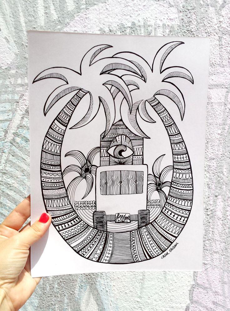 """Ya tenemos GANADORA del Concurso de Dibujo """"Surf Inspiración"""" ENHORABUENA a Carol Ohcean!! Congrats Carol Ohcean!! / Drawing contest winner!! www.tspsurf.com/es/blog-surfing"""