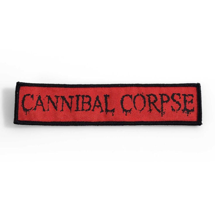"""Cannibal+Corpse+""""Logo""""+Patches+at+https://www.indiemerchstore.com/"""