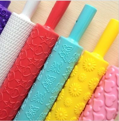 【Qoo10】6 set different type embossing rolling pin Sugar craft Cake Decorating... : Household Goods