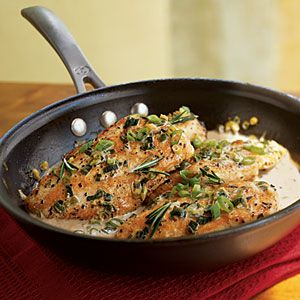 """""""Chicken with Rosemary Sauce: Simple, but good."""