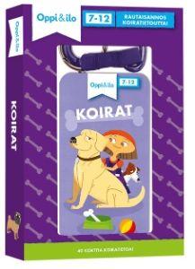Oppi&ilo-harrastekorteissa on rautaisannos koiratietoutta koiranomistajille ja koirasta haaveileville! Mistä tiedät, että koira on iloinen tai pelokas? Mitä koiran kanssa voi leikkiä ja harrastaa? Miten koira oppii hassuja temppuja? Mitä teet, jos löydät karanneen koiran?