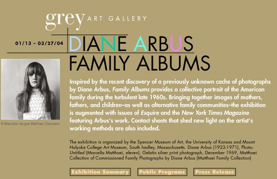 essays on diane arbus Challenges to stereotype image of mentally disabled people through diane arbus' untitled student name: student id: course.