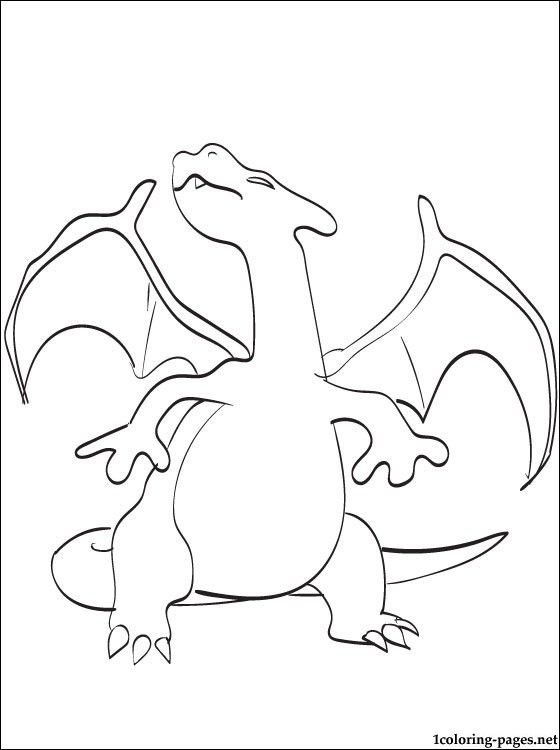 Charizard Coloring Page Pokemon Legendary