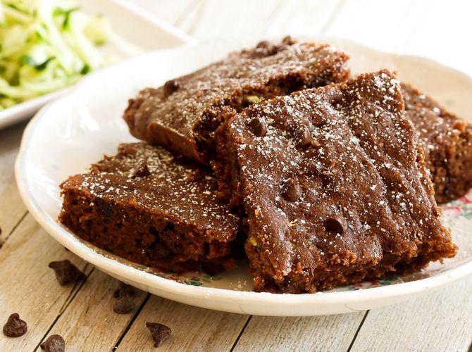 Saftiger Schoko Zucchini Kuchen Low Carb Brownies Rezepte Rezeptideen