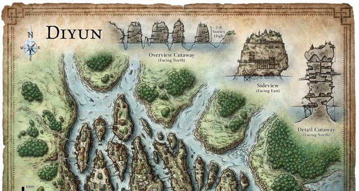 Cartographer's Guild - Diyun City Map By Schley