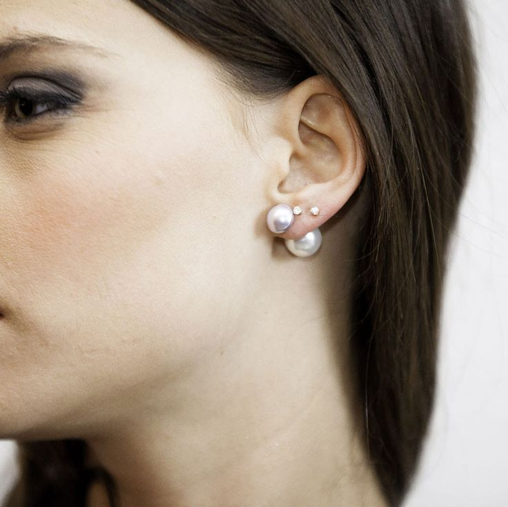 ROMY double-pearl earrings
