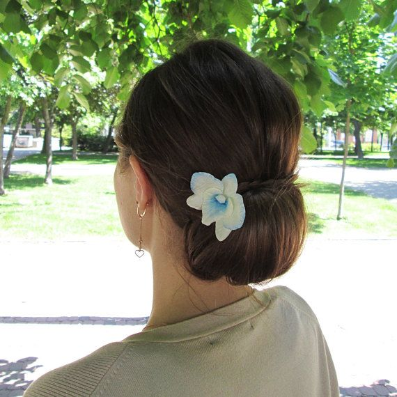 Dendrobium Orchid Hair Pin Blue Orchid Hairpin Wedding Etsy Orchid Hair Pins Wedding Hair Flowers Flower Hair Pin