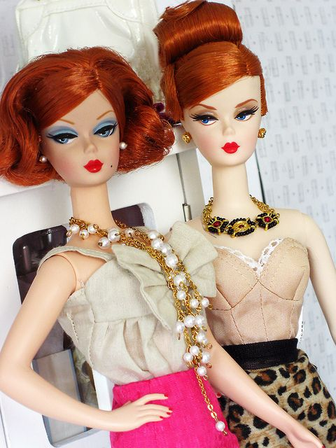 Fashion Editor and Mad Men Joan Holloway Silkstones by Poupée Chinoise, via Flickr