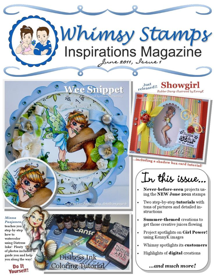 Whimsy Stamps Inspirations Magazine - Issue 1