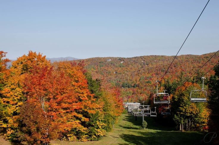 The ski lift at Mont Sutton