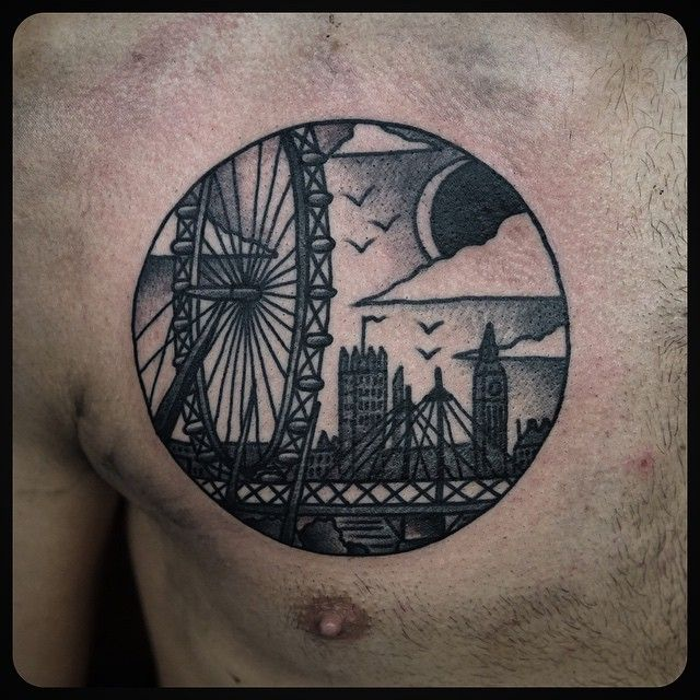 """#london #skyline #tattoo #tattoos Done at @skynyardtattoo"""