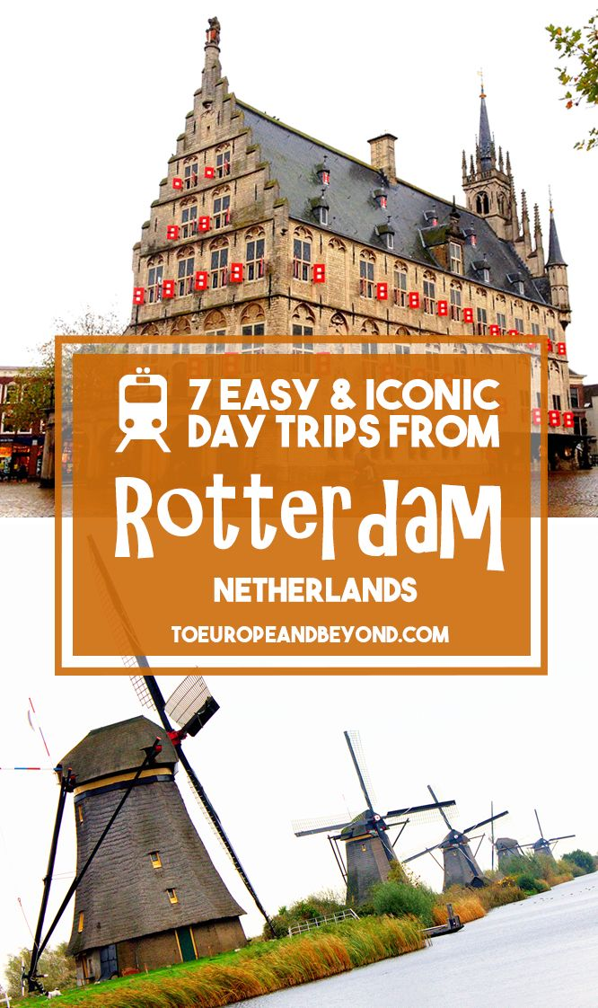 If you plan on spending a fair amount of time in Rotterdam, it might be worth planning a few extra day trips. Not only because there are is a surprisingly large amount of things to see and do in such a tiny weeny country, but also because they are ALL easily accessible by rail. http://toeuropeandbeyond.com/day-trips-from-rotterdam/ #travel #Netherlands