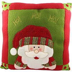 Almofada Papai Noel Feliz, 30 cm - Christmas Traditions