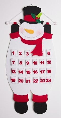 Frosty felt advent calendar