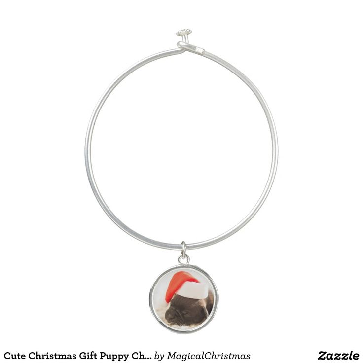 Cute Christmas Gift Puppy Charm Bracelet