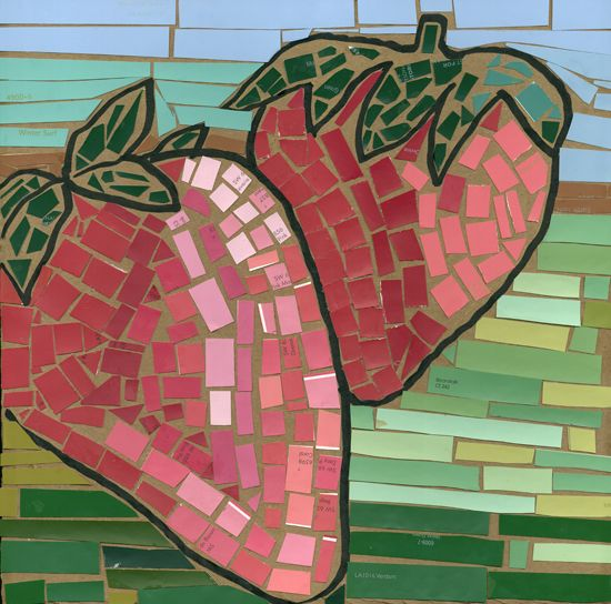 2010-137-grade-5 Mosaic with paint chips. I like the idea of making enlarged…