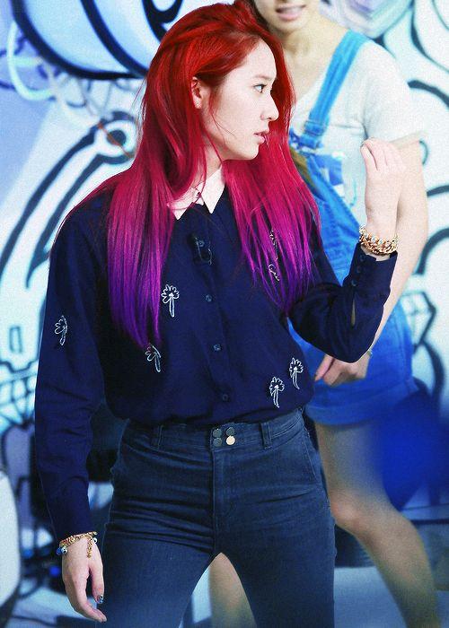 hair f(x) edit Krystal fx ombre hair krystal jung Soojung red ombre pink tape rum pum pum pum