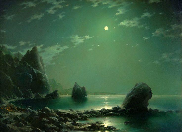 "Dmitriev George,  ""Night motive. Near mountain of the Kara-Dac"""