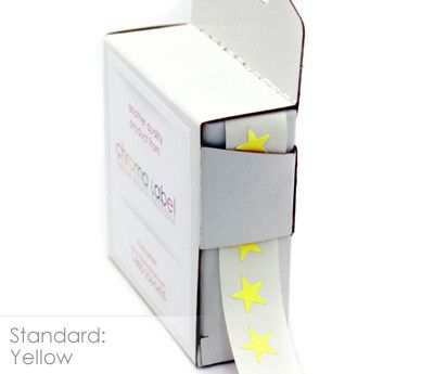 "3/8"" Color-Code Stars: 1,000/Box"