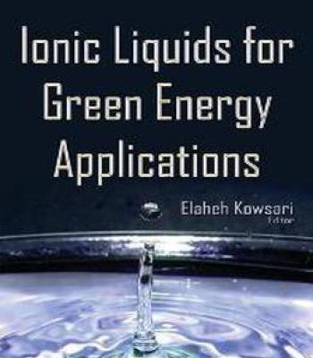 Ionic Liquids For Green Energy Applications PDF