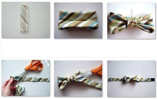 como hacer una corbata de lazo o de moño - Manualidades con fieltro, moldes y patrones gratis
