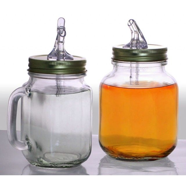 If you are someone who appreciates the art of Mason Jarred Moonshine for storing and serving purposes, then these Mason Jar Pour Spout Lids are sure to make your day! Enjoy the convenience of pouring your moonshine (or any other liquid) with ease and with no spillage. A southern goodness!