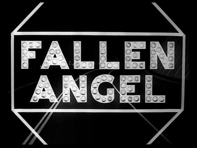 Fallen angel 1945 movie title  Great Otto Preminger film noir starring Dana Andrews and the beautiful, tragic Linda Darnell, Charles Bickford and Alice Faye.  Tough, gritty film has excellent plot and mystery.