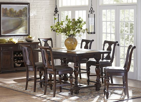 Morningside Counter Height Dining Set At Haverty 39 S Dining Pinterest