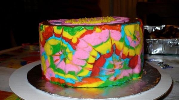Tie Dye Cake Tutorial | The Chocolate Swirl Blog