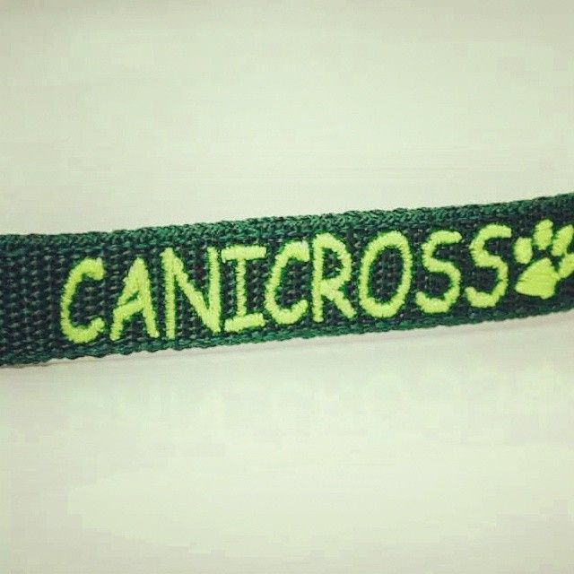 Klíčenka na krk s vyšitím | Lenyard with embroidery #canicross #lenyard #green #blackberry #dog_sport #pes #klicenka #zelena